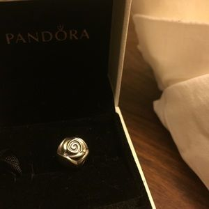 Pandora Rose Bud Charm Sterling Silver